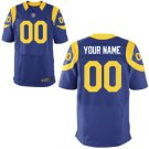 Mens Los Angeles Rams Custom Made Elite Football Jersey Royal