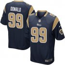 Any Size Los Angeles Rams #99 Aaron Donald Game Football Jersey Navy