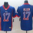 Men's Buffalo Bills 17# Josh Allen Limited Jersey Drift Fashion Royal Blue