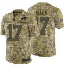 Any Size Buffalo Bills 17# Josh Allen Salute To Service Jersey Camo