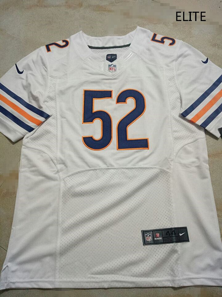 best service 24511 a991f Mens Chicago Bears 52# Khalil Mack Elite Football Jersey White