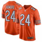 Any Size Chicago Bears 24# Jordan Howard Game Football Jersey Orange