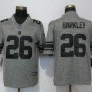 Men's Giants 26# Saquon Barkley Player Jersey Gray