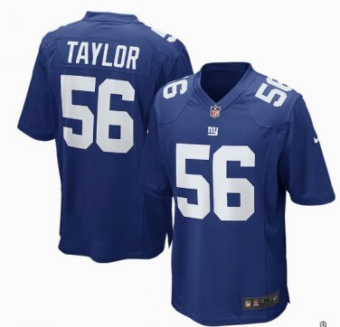 buy popular 05b4e 40a0b Any Size New York Giants #56 Lawrence Taylor Game Jersey ...