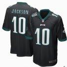 Any Size Philadelphia Eagles #10 DeSean Jackson Game Football Jersey Black