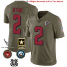 Any Size Atlanta Falcons #2 Matt Ryan Limited Salute To Service Jersey Olive