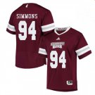 Any Size Mississippi State Bulldogs #94 Jeffery Simmons College Jersey Red