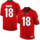 Any Size Georgia Bulldogs #18 Deandre Baker College Football Jersey Red