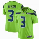 Any Size Seattle Seahawks #3 Russell Wilson Color Rush Jersey Green