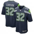 Any Size Seattle Seahawks #32 Chris Carson Game Football Jersey Navy