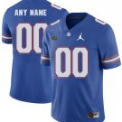 Any Size Florida Gators Custom Limited Football College Jersey Royal Blue