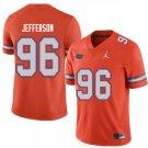Any Size Florida Gators #96 Cece Jefferson Football College Jersey Orange