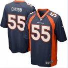 Any Size Denver Broncos 55 Bradley Chubb Game Football Jersey Navy