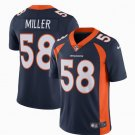 Any Size Denver Broncos 58# Von Miller Limited Football Jersey Navy