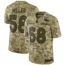 Any Size Denver Broncos 58# Von Miller Salute To Service Jersey Camo