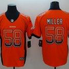 Mens Denver Broncos 58# Von Miller Limited Jersey Drift Fashion Orange
