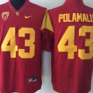Men's USC Trojans #43 Troy Polamalu Stitched Red College Football Jersey