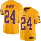 Any Size Redskins #24 Josh Norman Limited Football Color Rush Jersey Yellow