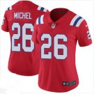 Women's Patriots 26# Sony Michel Limited Football Jersey Red