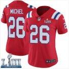 Women's Patriots 26# Sony Michel Limited Jersey Red 2019 Super Bowl LIII