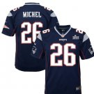 Youth Patriots 26# Sony Michel Game Jersey Navy 2019 Super Bowl LIII