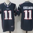 Any Size Patriots #11 Julian Edelman Limited Football Jersey Blue Navy