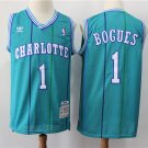Men's Charlotte Hornets Tyrone Muggsy Bogues Basketball Jersey Green Stripe