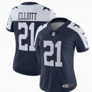 Womens Dallas Cowboys 21# Ezekiel Elliott Limited Alternate Jersey Navy