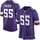 Any Size Minnesota Vikings #55 Anthony Barr Game Football Jersey Purple