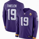 Mens Minnesota Vikings #19 Adam Thielen Long Sleeve Football Jersey Purple