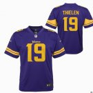 Youth Vikings #19 Adam Thielen Limited Color Rush Football Jersey Purple