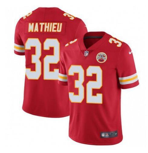 Mens Kansas City Chiefs #32 Tyrann Mathieu Limited Football Jersey Red