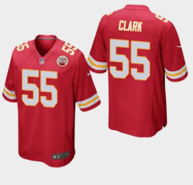 outlet store 89249 a9ed0 Mens Kansas City Chiefs #55 Frank Clark Game Football Jersey Red