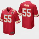 Youth Kansas City Chiefs #55 Frank Clark Game Football Jersey Red