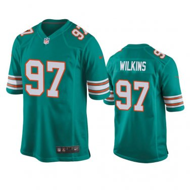 the best attitude d2a8d 05535 Men's Miami Dolphins #97 Christian Wilkins Game Throwback ...
