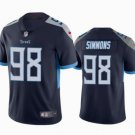 Mens Tennessee Titans #98 Jeffery Simmons Limited Football Jersey Navy