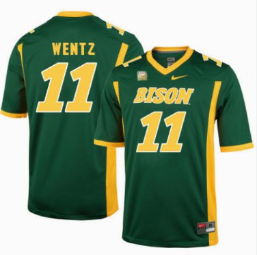 low priced c7b17 116fd Any Size Carson Wentz Jersey NDSU North Dakota State Bison ...