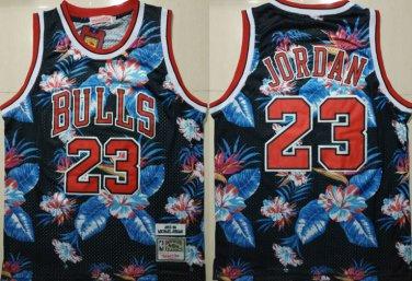 reputable site 57477 89307 Men's Bulls #23 Michael Jordan Mitchell & Ness Floral ...