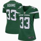 Womens New York Jets #33 Jamal Adams Game Football Jersey Green New