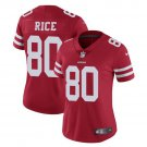 Women's 49ers #80 Jerry Rice Limited Football Player Jersey Red