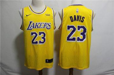 Men S Lakers 23 Anthony Davis Basketball Yellow Jersey City