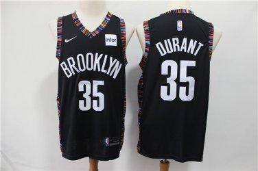 cheaper 456d7 1fd3b Mens Brooklyn Nets #35 Kevin Durant Jersey Black City ...