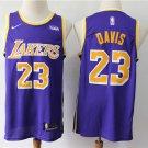 Men's Lakers #23 Anthony Davis Basketball Purple Jersey City Edition