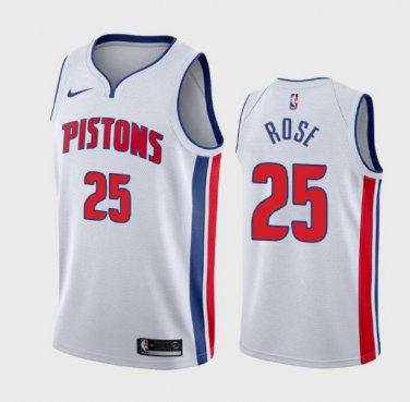 quality design 2ff2d 681d2 Men's Detroit Pistons 25 Derrick Rose Basketball Jersey ...
