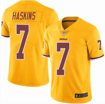 Yellow Limited Dwayne 7 Redskins Jersey Men's Haskins Color Rush