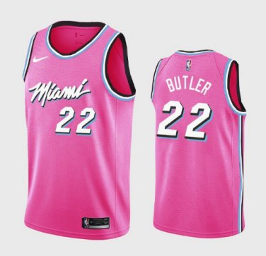 info for 31dd1 c95e7 Men's Miami Heat #22 Jimmy Butler Basketball Jersey Pink ...