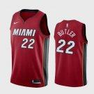 Men's Miami Heat #22 Jimmy Butler Basketball Jersey Red 2019