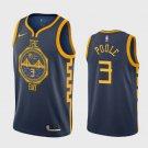 Men's Golden State Warriors #3 Jordan Poole Navy City Draft Jersey