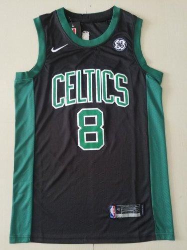 online store 288b7 7d0be Men's Boston Celtics #8 Kemba Walker Basketbll Jersey Black 2019