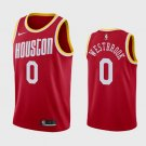 Men's Houston Rockets Russell Westbrook #0 Red Jersey Throwback
